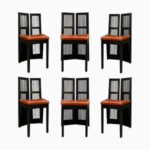 Lubekka Esszimmerstühle von Andrea Branzi für Cassina, 1991, 6er Set