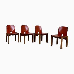 121 Esszimmerstühle von Afra & Tobia Scarpa für Cassina, 1968, 4er Set