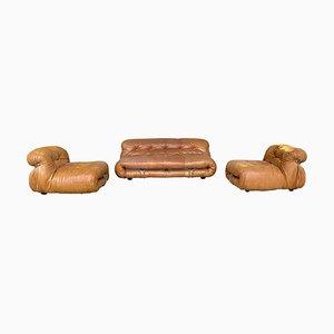 Soriana Living Room Set by Afra & Tobia Scarpa for Cassina, 1969, Set of 3