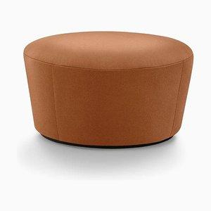 Naïve Pouf D720 in Hulst Dark Brown Leather by etc.etc. for Emko