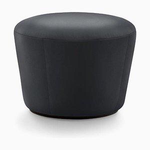 Naïve D520 Pouf aus schwarzem Lambada Leder von etc.etc. für Emko