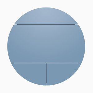 Mueble multifunción en blanco y azul de Dalius Razauskas para Emko