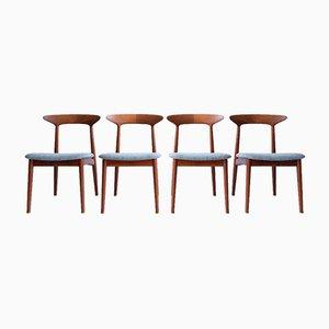 Teak Dining Chairs by Kurt Østervig for Brande Møbelindustri, Set of 4