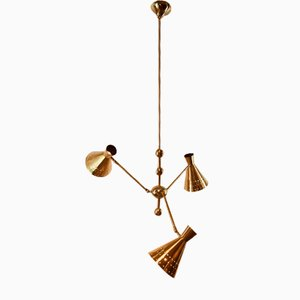 Adjustable Sputnik Lamp with Perforated Cones