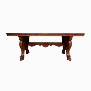 Italian Neo-Renaissance Desk in Walnut, 19th Century