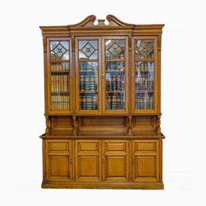 Libreria edoardiana in quercia