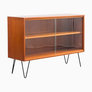 Restored Showcase Cabinet in Teak with Hairpin Legs, 1960s