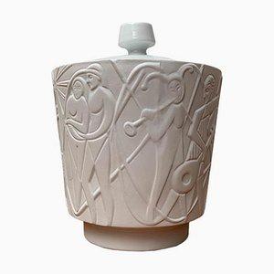 Vintage German White Porcelain Paradies Bowl with Lid by Kurt Wendler for Edelstein Bavaria