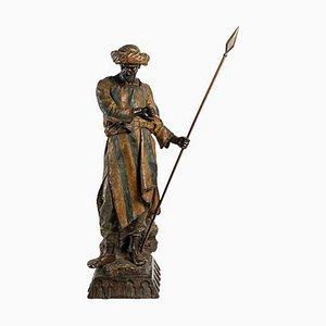 The Arab Dignitary, Friedrich Goldscheider, grande scultura in ceramica