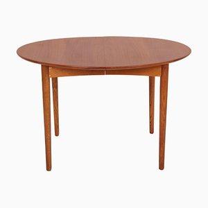 Table de Salle à Manger en Chêne Huilé et Teck avec 2 Extensions, Danemark, 1950s, Set de 3