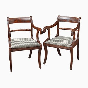 Regency Carver Chairs in Mahogany, Set of 2