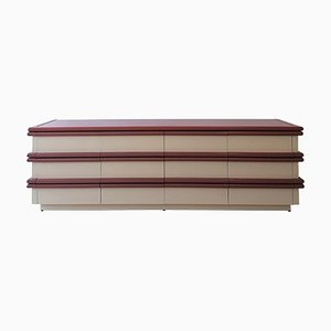 Vintage American Sideboard with 12 Drawers in the Style of Jay Spectre, 1980s