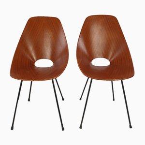 Vintage Medea Stuhl aus Bugholz von Vittorio Nobles für Fratelli Tagliaflue, 1950er