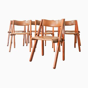 Noruega Stühle von Gastão Machado für Móveis Olaio, 1978, 8er Set