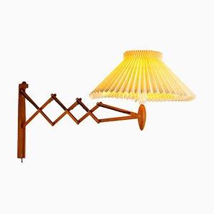 Oak Model 233 Scissor Lamp by Erik Hansen for Le Klint, Denmark, 1950s