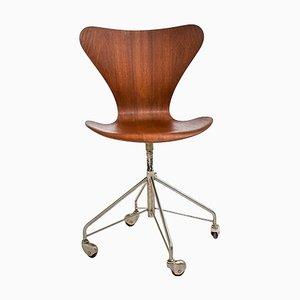 Früher Modell 3117 Bürostuhl von Arne Jacobsen für Fritz Hansen