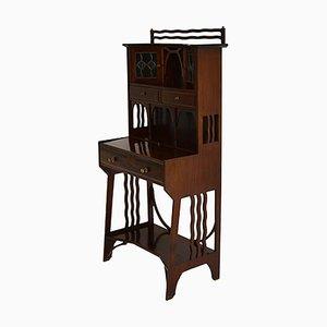 Antique Edwardian Arts & Crafts Mahogany Writing Bureau
