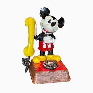 Mickey Mouse Telefon mit Schnur mit Zifferblatt, 1980er