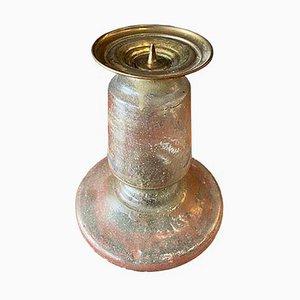 Rustikaler Kerzenhalter aus Glas, spätes 19. Jh
