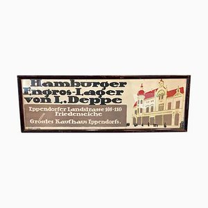Hamburger Verkehrswerbung, Eppendorfer Kaufhaus, Lithographie, 1920er Jahre