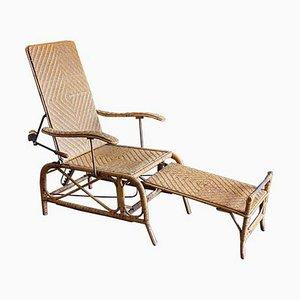 Chaise Longue de Jardin Bauhaus en Rotin Style Erich Dieckmann