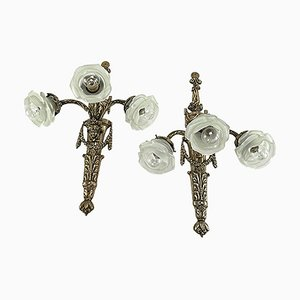 Jugendstil Wandlampen, 2er Set