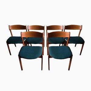 Dänische Modell 49 Esszimmerstühle aus Teak von Erik Buch für Oddense Maskinsnedkeri / Od Møbler, 1960er, 6er Set
