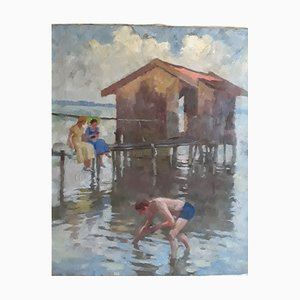 Alfred Schmidt, Am Chiemsee, Oil Painting, Munich, 1930s