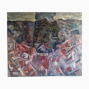 Abstraktes Ölgemälde, Grest, 1987