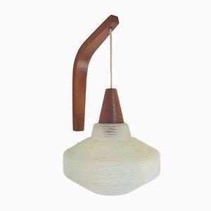 Vintage Angel Wandlampe aus Teak von Louis Kalff für Philips