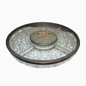 Art Nouveau Forged Glass Plate