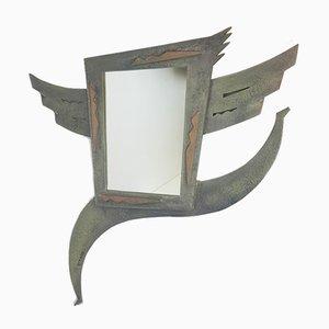 Specchio vintage modernista fatto a mano di Ronald Slabbers, anni '90
