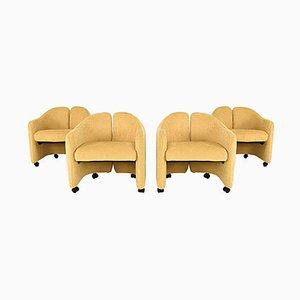 Mid-Century Modern PS 142 Stühle von Eugenio Gerli für Tecno, 4er Set