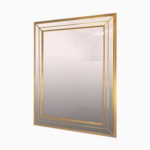 Specchio XL Regency dorato di Deknudt, Belgio, anni '70