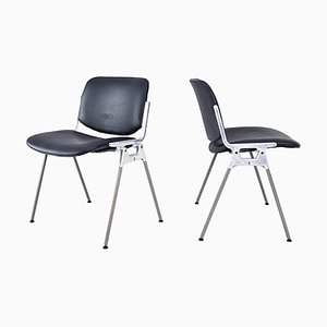 Italian Modern DSC 106 Stackable Chairs by Giancarlo Piretti for Castelli, Set of 2