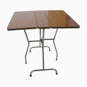 Folding Table in Chrome and Formica, 1970s