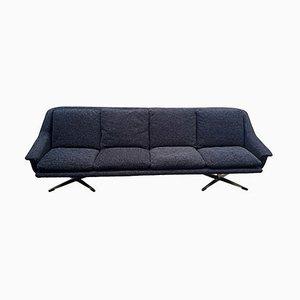 Danish Model 802 Sofa in Black Velvet by Werner Langenfeld for Esa, 1960