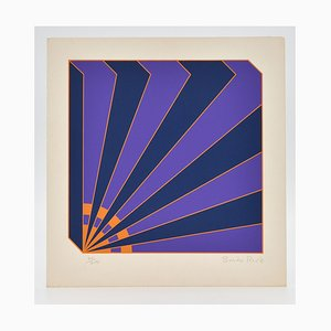 Brian Rice, Pop Art Siebdruck, Geometric Radio, 1969