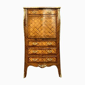 Louis XV Curved Secretaire in Marquetry