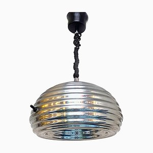 Verchromte italienische Mid-Century Splügen Bräu Deckenlampe von Achille & Pier Giacomo Castiglioni für Flos, 1964