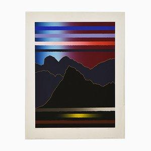 Arthur Secunda, große abstrakte Notte Luganese, 1983