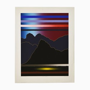 Arthur Secunda, Large Abstract, Notte Luganese, 1983