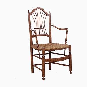 Provenzalischer Stuhl aus Mahagoni, Italien, Spätes 19. Jh