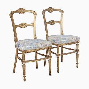 Vergoldete Stühle, 1800er, 2er Set