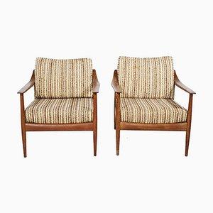 Mid-Century Antimott Sessel mit Gestell aus Teak von Walter Knoll / Wilhelm Knoll, 1960er, 2er Set