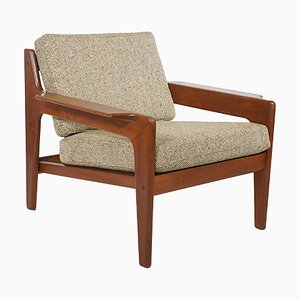 Mid-Century Teak Lounge Chair by Walter Knoll, 1970s