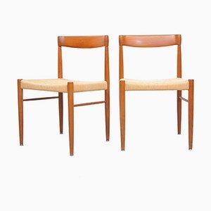 Chaises en Teck par HW Klein pour Bramin, Set de 2