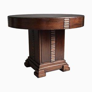 Table Basse Art Déco en Chêne et Noyer