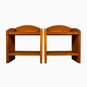 Solid Pine Bedside Tables in the Style of Samos by Roland Wilhelmsson, Set of 2