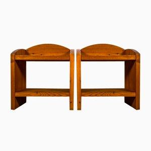 Tables de Chevet Style Samos en Pin Massif par Roland Wilhelmsson, Set de 2